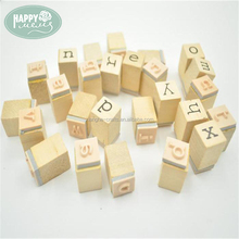 Wholesale Letter wood stamp set alphabet stamp for scrapbooking