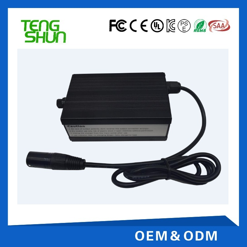 24v 5a 36v 3a 48v 2.5a aluminum case electric e-bike lithium ion battery charger