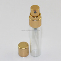 5ml clear Mist Spray Glass Tube perfume Bottle with Aluminum Screw Sprayer Cap