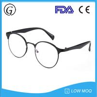 High quality retro round matte black frame optical eyeglasses