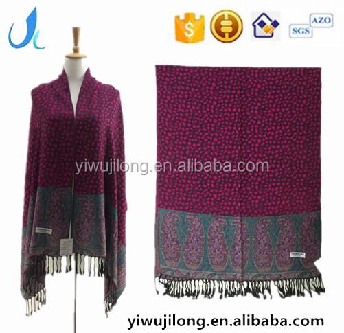 Jilong oem aceptable personalizar sercive pashmina mantón, pashmina india fulares al por mayor, turco