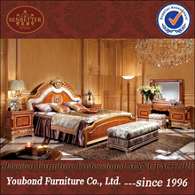 0062-1 Italy royal house suite classic round bedboard wooden bedroom set