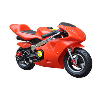Hot sales cute 2 stroke 49cc pull start mini scooter gas mini moto 50cc pocket bike