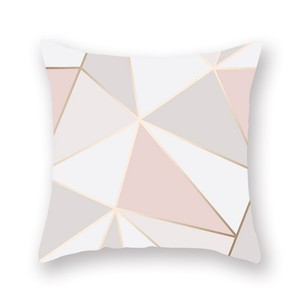 Hot Selling Marbled Carving Rose Gold Letter Polyester Peach Skin 45*45cm Pillow