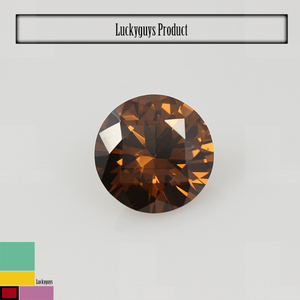 hardness 8.5 moh's scale dark brown cz round brilliant cut 1.2mm loose zircon stone