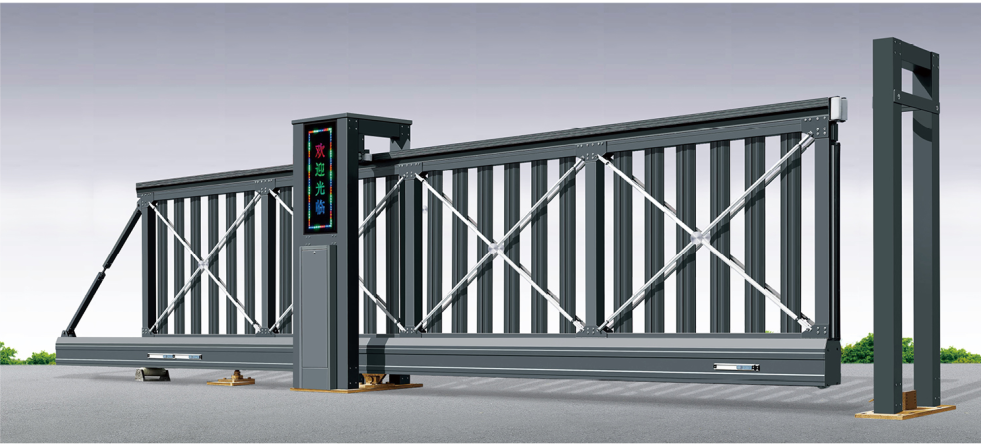 Aluminum alloy automatic Suspended cantilever sliding gate with remote control QG--L2080A