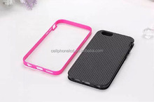 Hot Selling Mobile Phone TPU Back Case with PC Bumper for iPhone 6 Plus