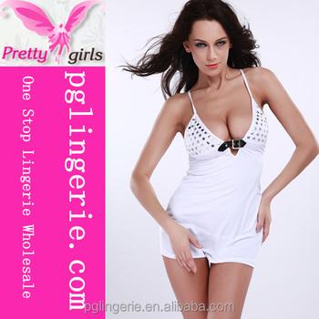 54dac8585 Cheapest Womens White Breast Bra Babydoll Sleepwear Nighty - Buy ...