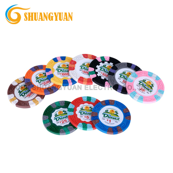 9.5g 3-Tone Pure Clay Dunes Casino Poker Chip