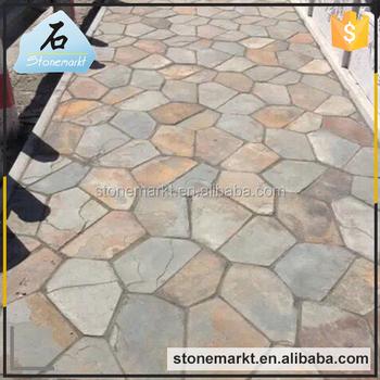 Decorative Outdoor Floor Paving Irregular Shaped Slate Tile Buy