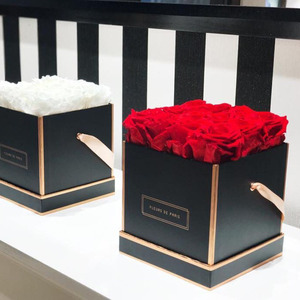 2018 Custom Luxury Wholesale Waterproof Round Square Paper Flower Gift Box With Lid