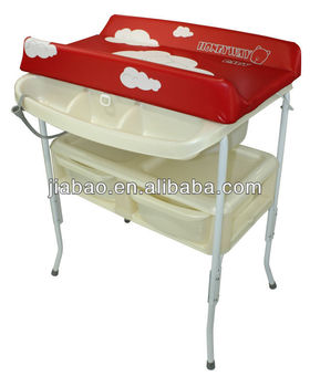 Removable Baby Bath Stand With Bath Tub And Sofe Changing Table Baby Product