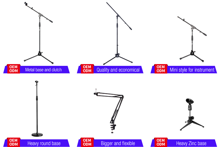 wholesaler professional tripod adjustable boom studio microphone stand professional for mic recording