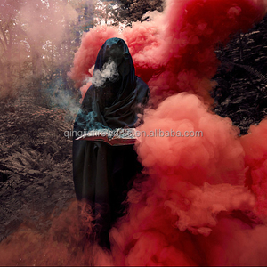 photograph wedding party smoke signal fountain red hand flare