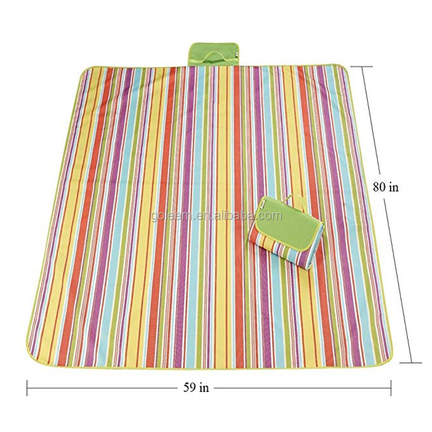 Nice Quality Waterproof Sand Proof Picnic Pocket Folding beach Blanket