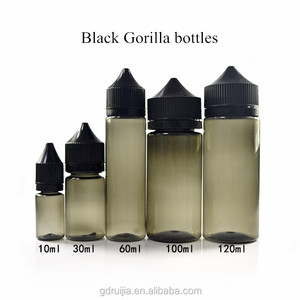 PET 10ml 30ml 60ml 100ml 120ml black pen bottle for e-cig e liquid