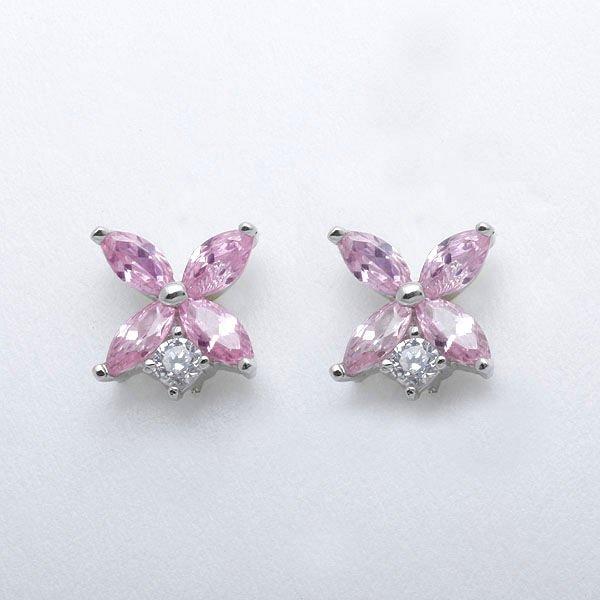 hot sale pink diamond stud earrings buy womens earring jewelry