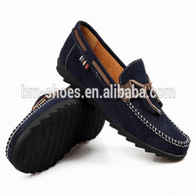 Cheap custom brand comfortable leather blue men loafers shoes