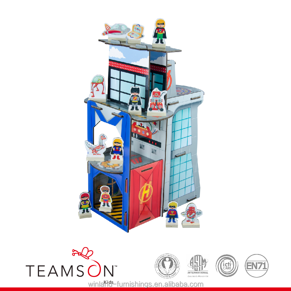Teamson Kids - Table Top Play Set - Hero Center