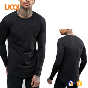 f06580bcff New Style Blank Plain Cotton OEM Custom Mens Black Longsleeve Tshirt