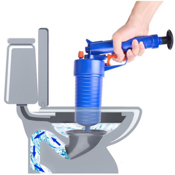 Haus & Garten Air Power Drain Blaster Pistole Hochdruck Leistungsstarke Manuelle Waschbecken Kolben Opener Reiniger Pumpe Für Bad Toiletten Bad Küche