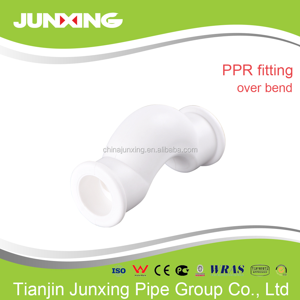 PPR material plastic water pipe fittings adptor, tee, cross, elbow