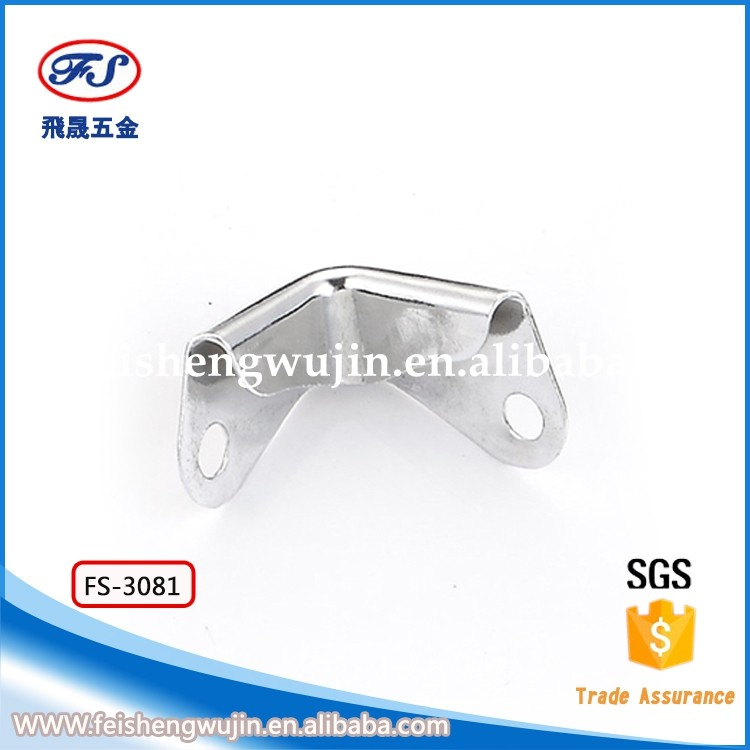 FS-3081Small Metal Briefcase Corner With Two Holes For Decoration