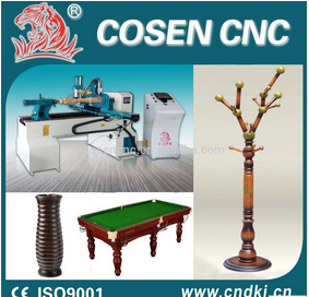 Horizontal Type Cheap Price CNC wood Lathe Machine