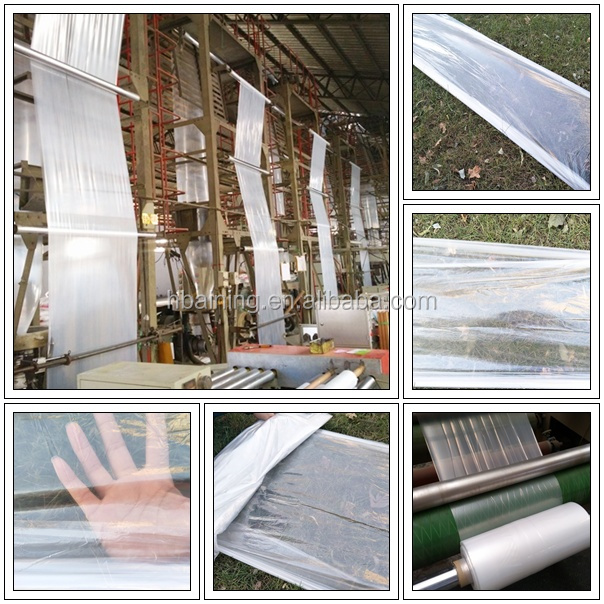 Manufacturer Agricultural Greenhouse Plastic Film / UV Resistant Plastic 200 Micron Greenhouse Film