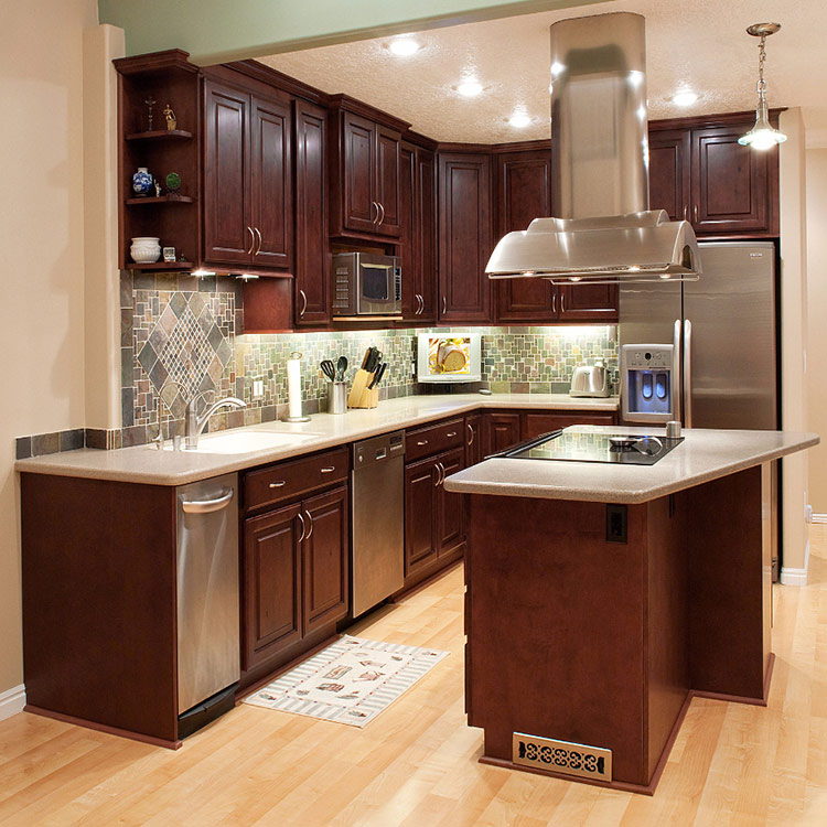 solid wood frosted glass kitchen cabinet doors designs