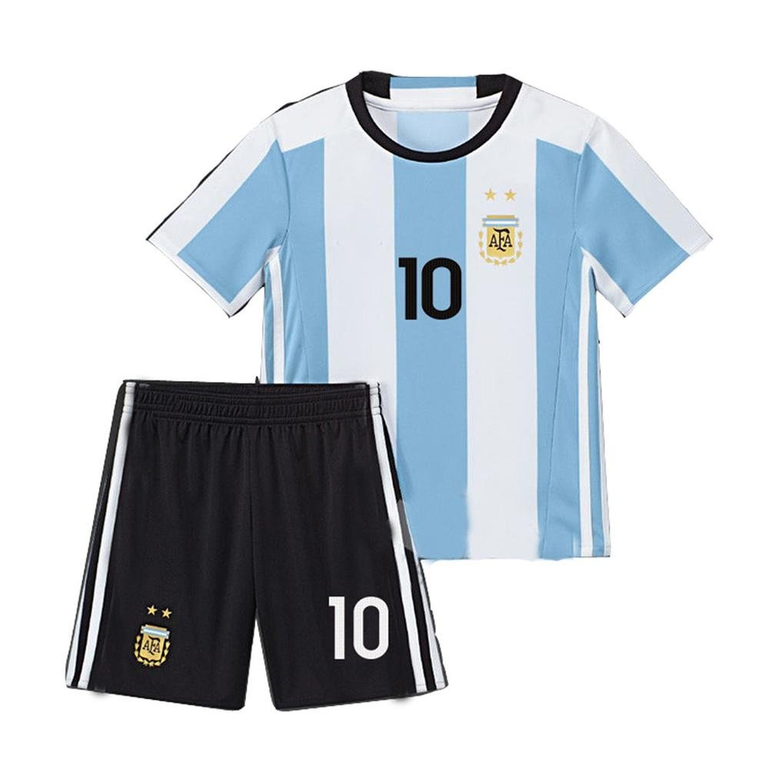 f9732a79b Get Quotations · caxa 2016 Argentina Home Messi 10 Football Kit Soccer Kids  Jersey   Short