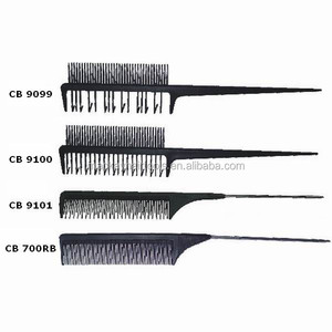 carbon fabric double sided straight hair dye comb