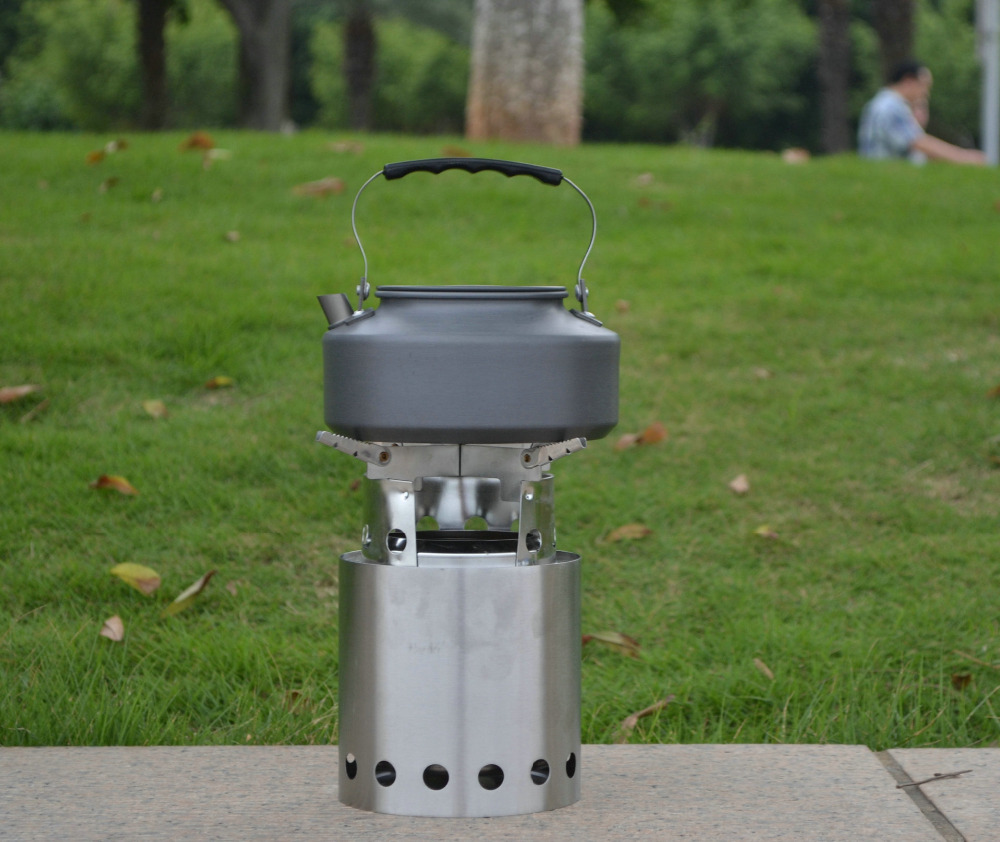New Product Outdoor Cooking Stainless Steel Wood Portable Camping Burning Stove