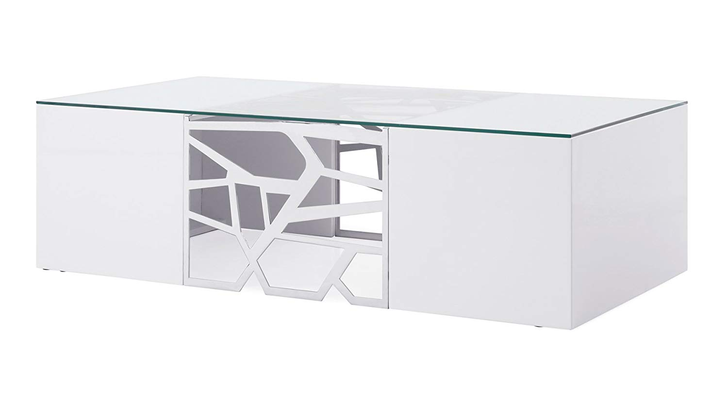 White Lacquer Coffee Table Modern