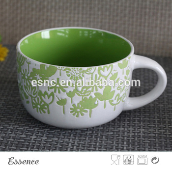 Cheap Hand Painting Stoneware Soup Mugs With Handle - Buy Stoneware ...