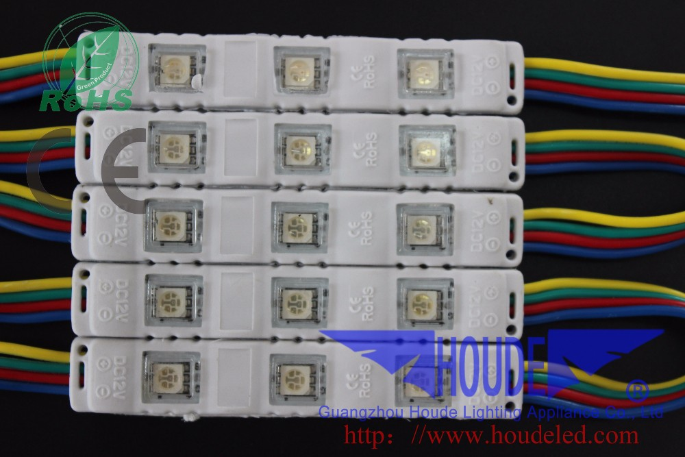 lighting 5050 RGB led module IP68 DC12V 5050 RGB color ,2/3-LED Injection Module/ 5050 Injection led module for advertising