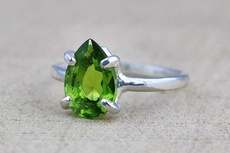 0b31622061e57 Buy Peridot ring,August birthstone ring,silver rings,stack rings ...