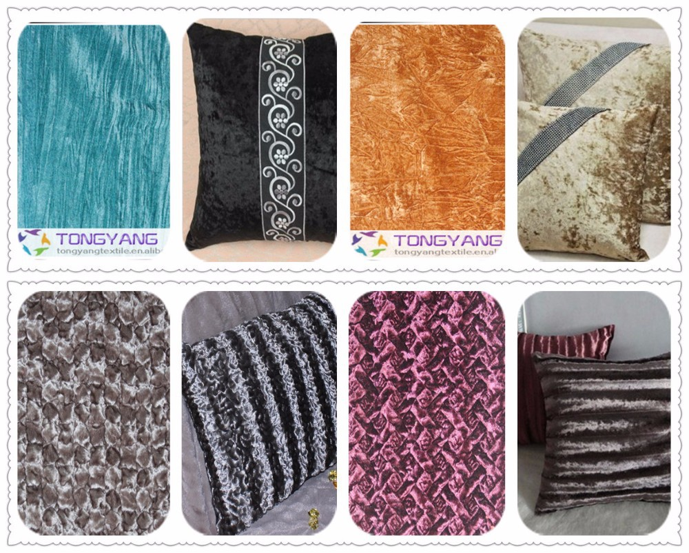 100 polyester materials crushed fabrics