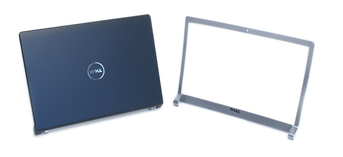 "Genuine Dell T924F P613X M138C LCD Cover Top Lid Bezel Kit Assembly with Hinges in Matte Black and Silver. For Dell Studio 1535, 1536, and 1537 Notebook Laptop Systems, Fits Laptop Notebooks With 15.4""-Inch Screen Monitor, Includes 15.4""-Inch LCD Assembly, Screen Monitor Lid Cover and Wireless"