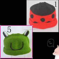 Infant Baby Knit Crochet Hat Funny kids custom caps