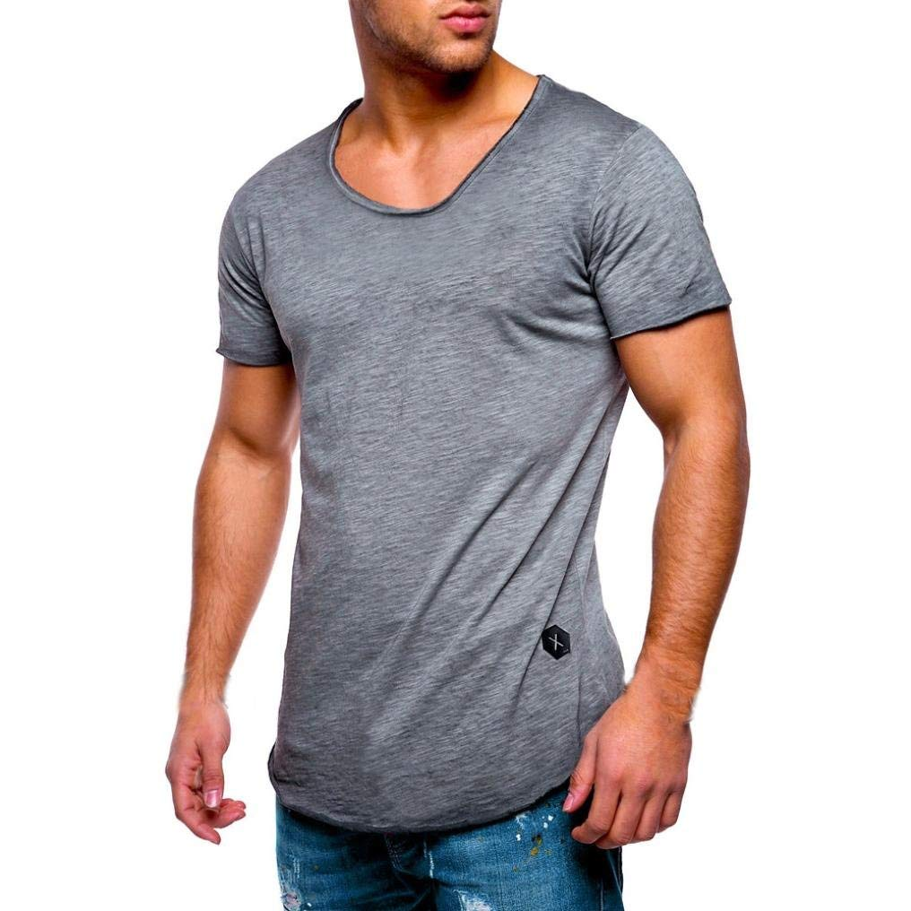 49fe6f94 Get Quotations · T-Shirts for Men,Kstare Men's O Neck Casual Muscle Slim  Fit Short Sleeve