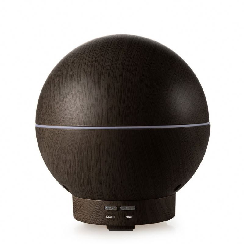 Ultrasonic aroma diffuser portable-400ml spherical Compact Ultrasonic Aromatherapy Diffuser With Ionizer and Color Light