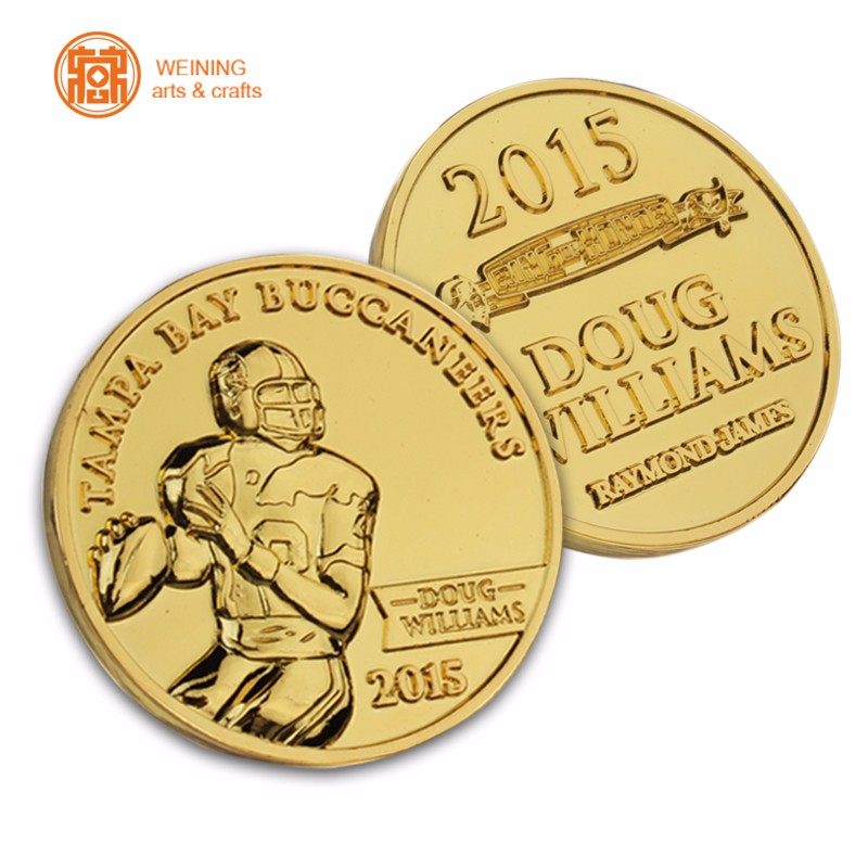 Factory direct gold metal custom making coin