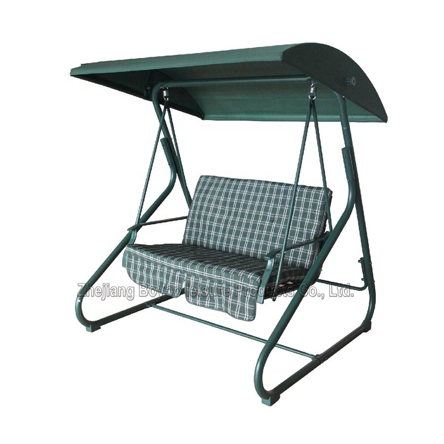 2 Seater Steel Frame Patio Swing Chair