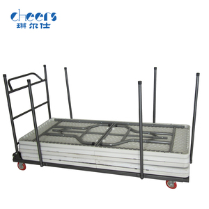 foldable long table trolley cart banquet table trolley 4 wheel dolly