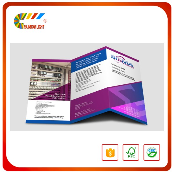 Professional customized brochure booklet printing / A3 A4 A5 A6 advertising flyers printing