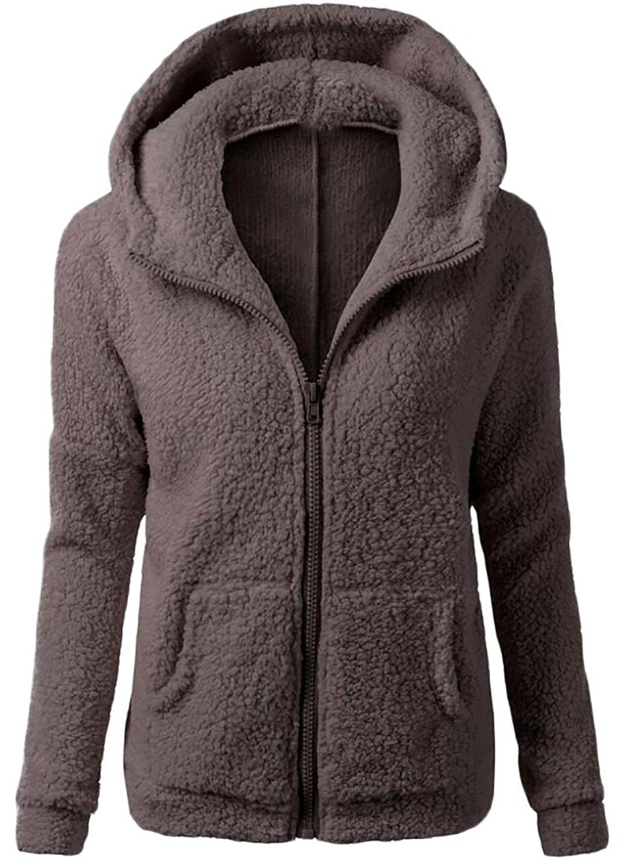 SHOWNO Womens x Pocket Long Sleeve Plain Pullover Hooded Sweatshirt