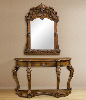 Classic Wood Hallway Console Table And Mirror Buy Hallway Console