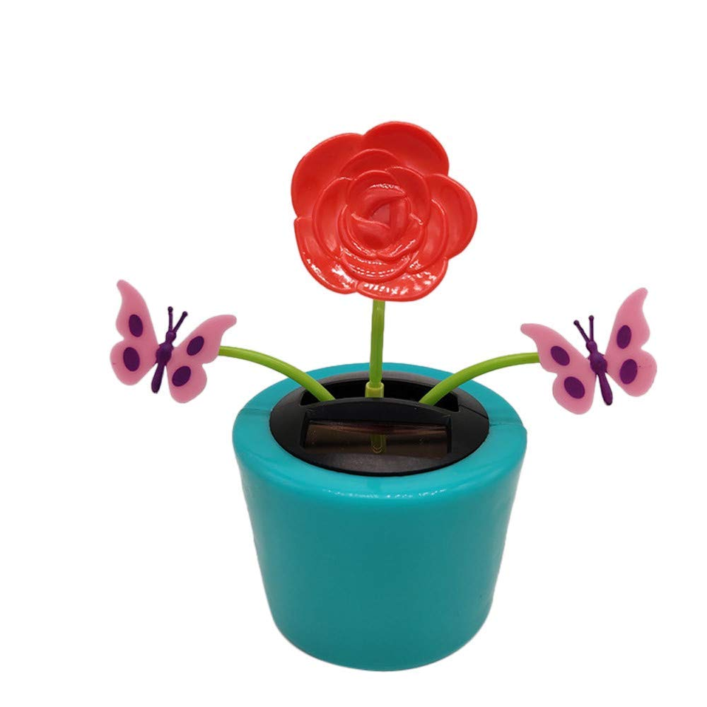 bc770278e05e9 Get Quotations · Solar Powered Dancing Flower Toy for Car Decor