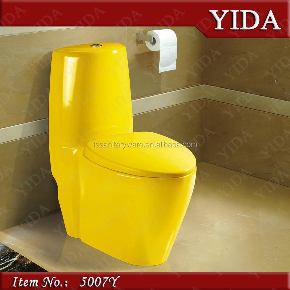 Pure Yellow Toilet,Economic Toilet Modern Wc Water Saving Toilet ...